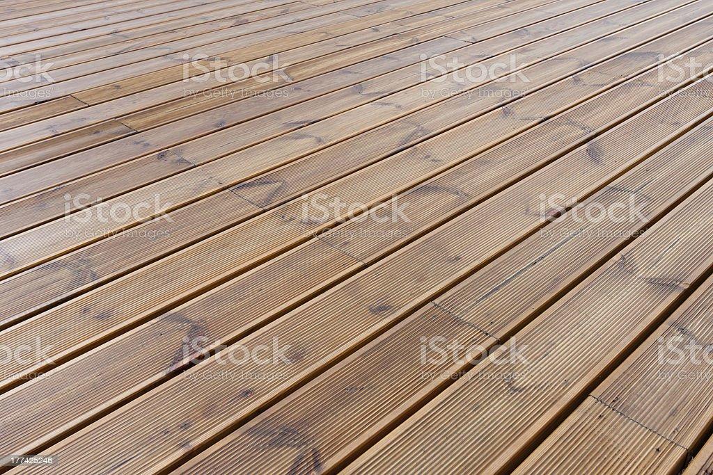 wet wood floor / Terrace stock photo