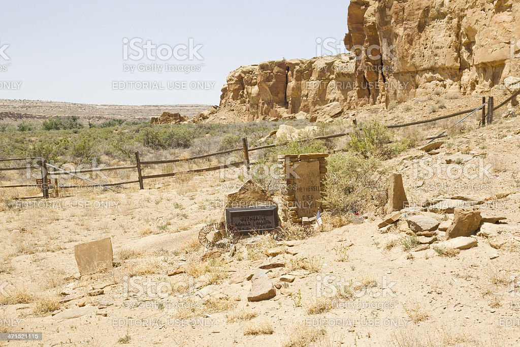 Wetherill Grave Site - Chaco Culture National Historical Park royalty-free stock photo