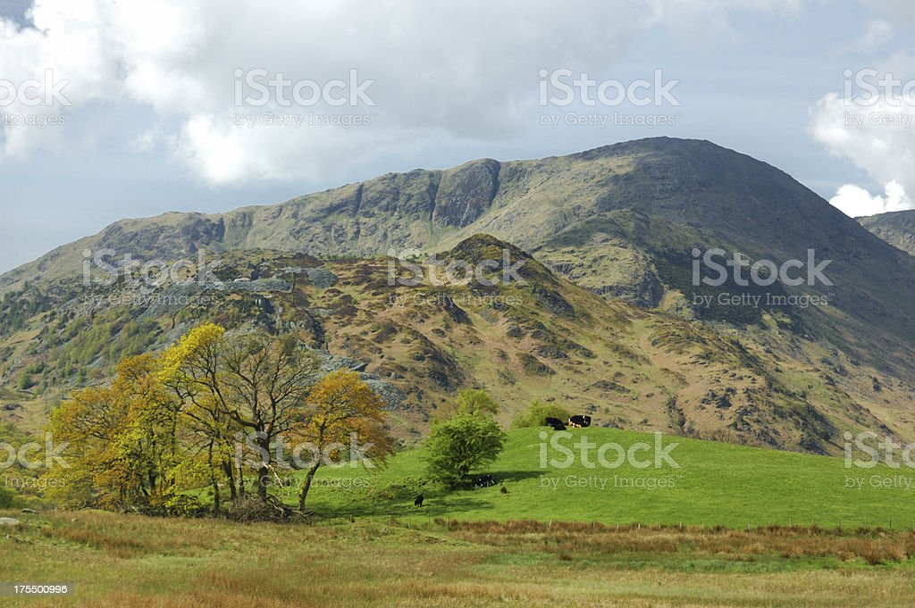 Wetherlam in the English Lake District stock photo