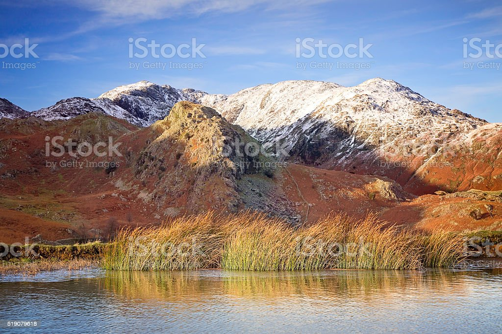 Wetherlam & Old Man of Coniston, Coniston, English Lake District stock photo