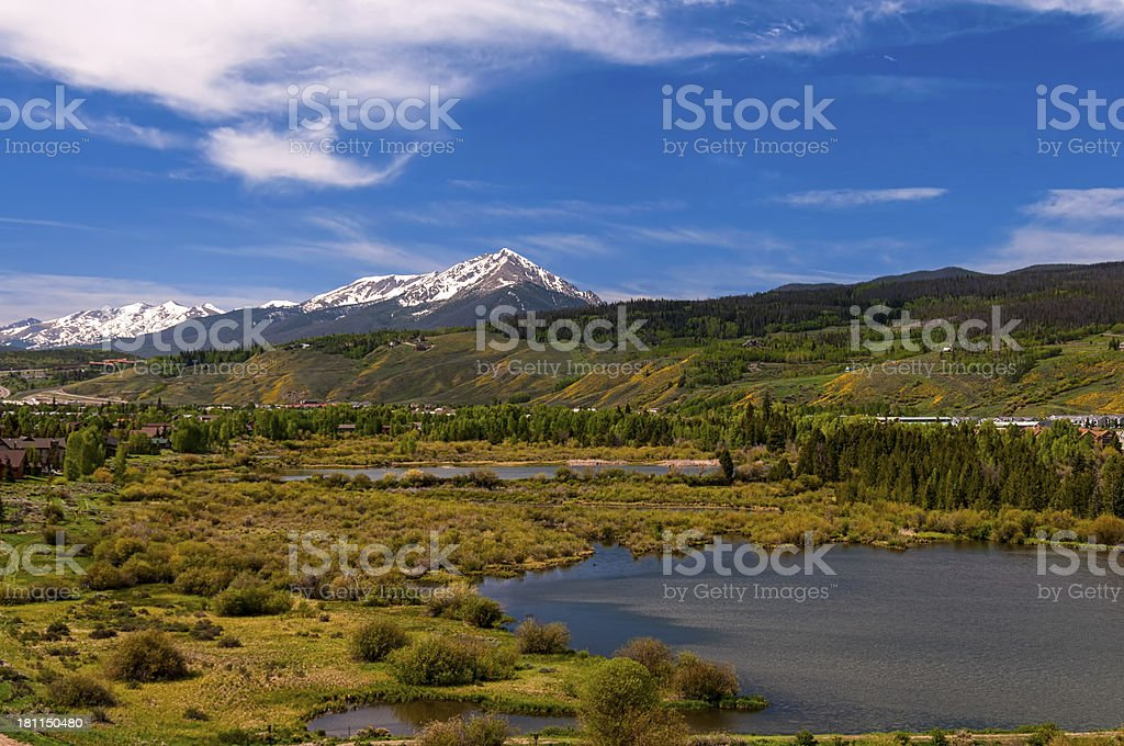 Wetlands in Silverthorne Colorado stock photo