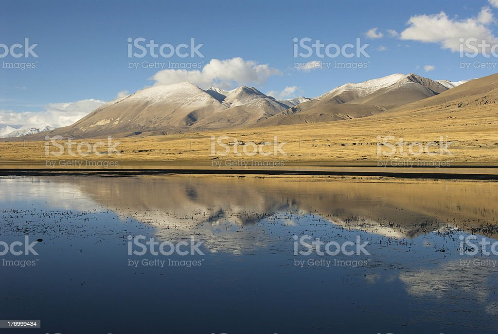 Wetlands in Tibet royalty-free stock photo