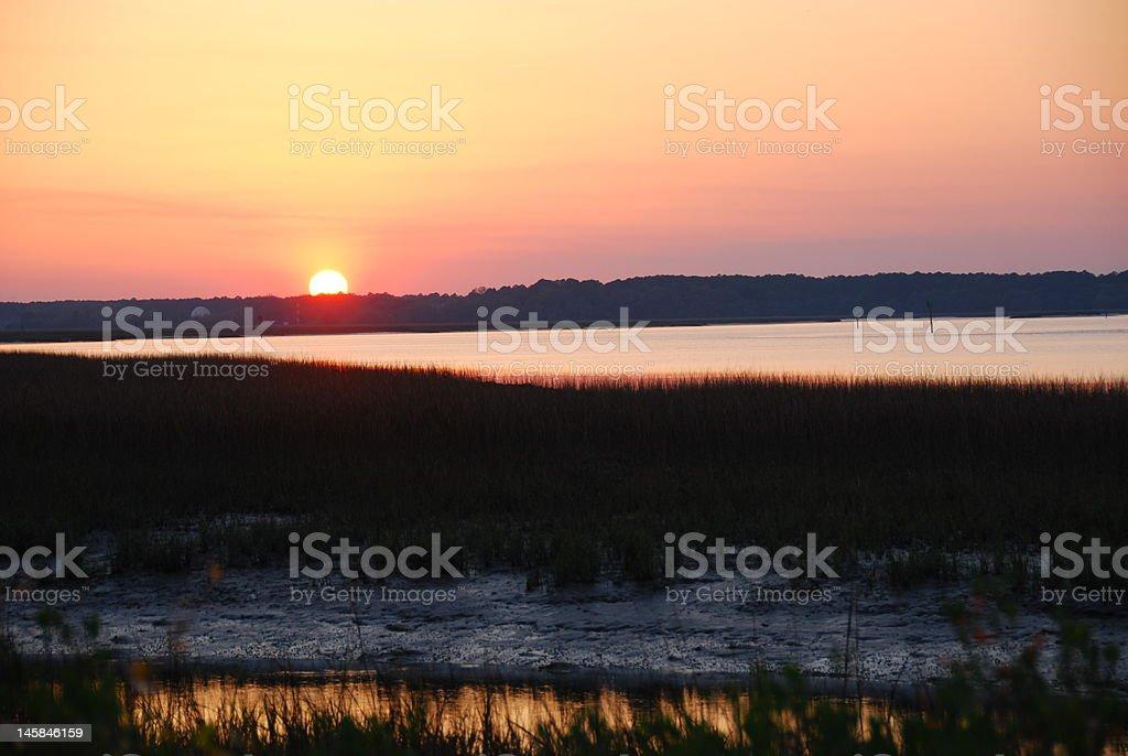 Wetlands Sunset stock photo