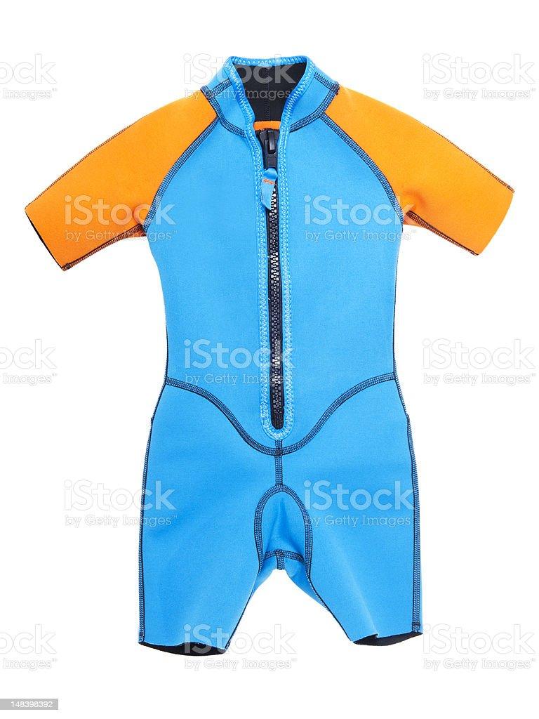 wetsuit isolated on white background stock photo