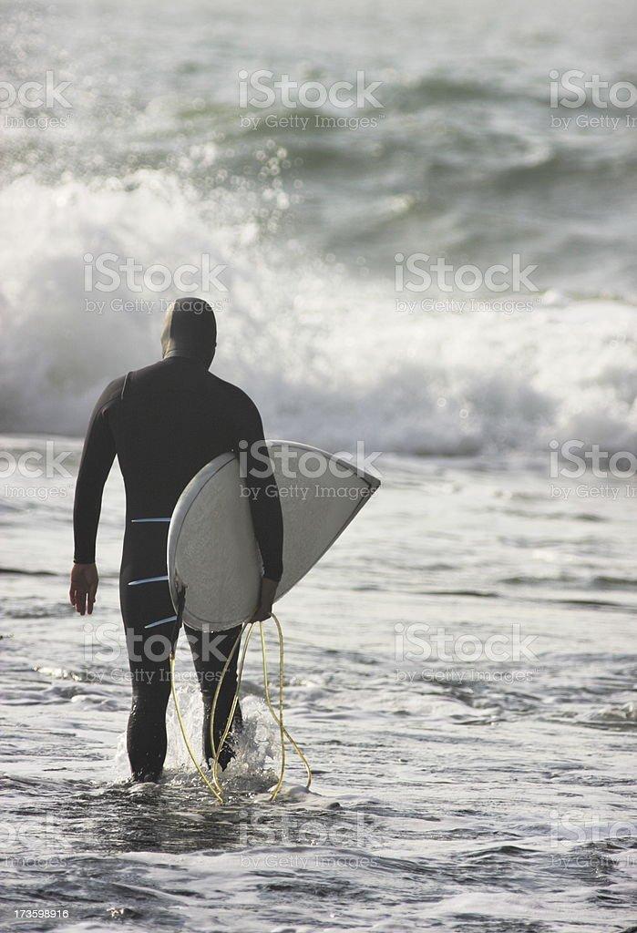 Wetsuit Surfer Surfboard Ocean Wave stock photo