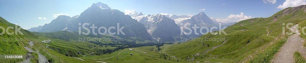 Wetterhorn, Shreckhorn, and Eiger royalty-free stock photo