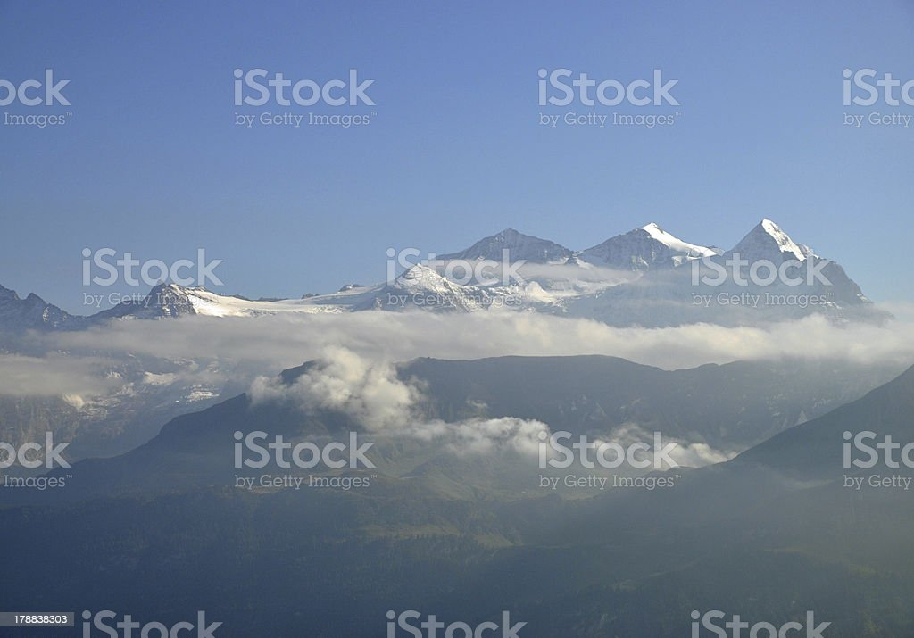 Wetterh?rner, mountains in Switzerland royalty-free stock photo