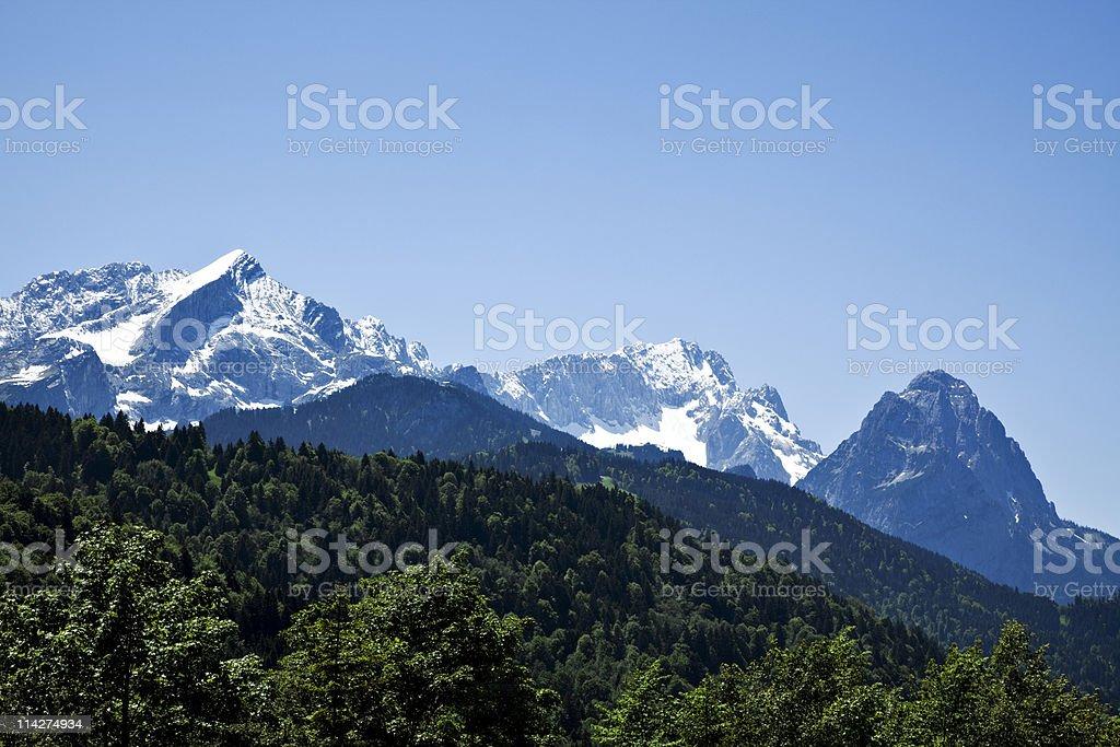 Wetterstein mountain range stock photo