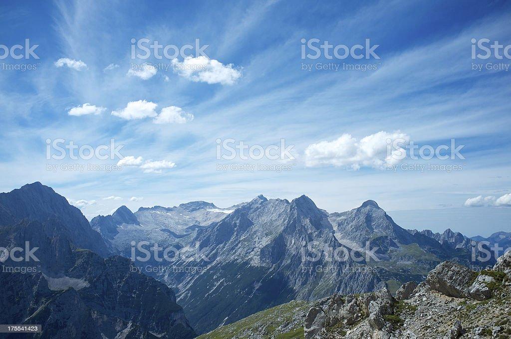 Wetterstein mountain range royalty-free stock photo