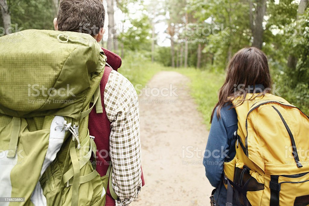 We've got a long trail ahead royalty-free stock photo