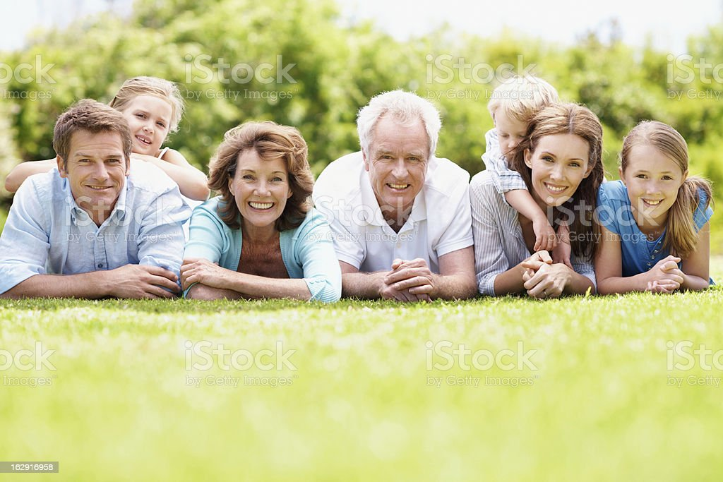 We've got a really close family bond royalty-free stock photo