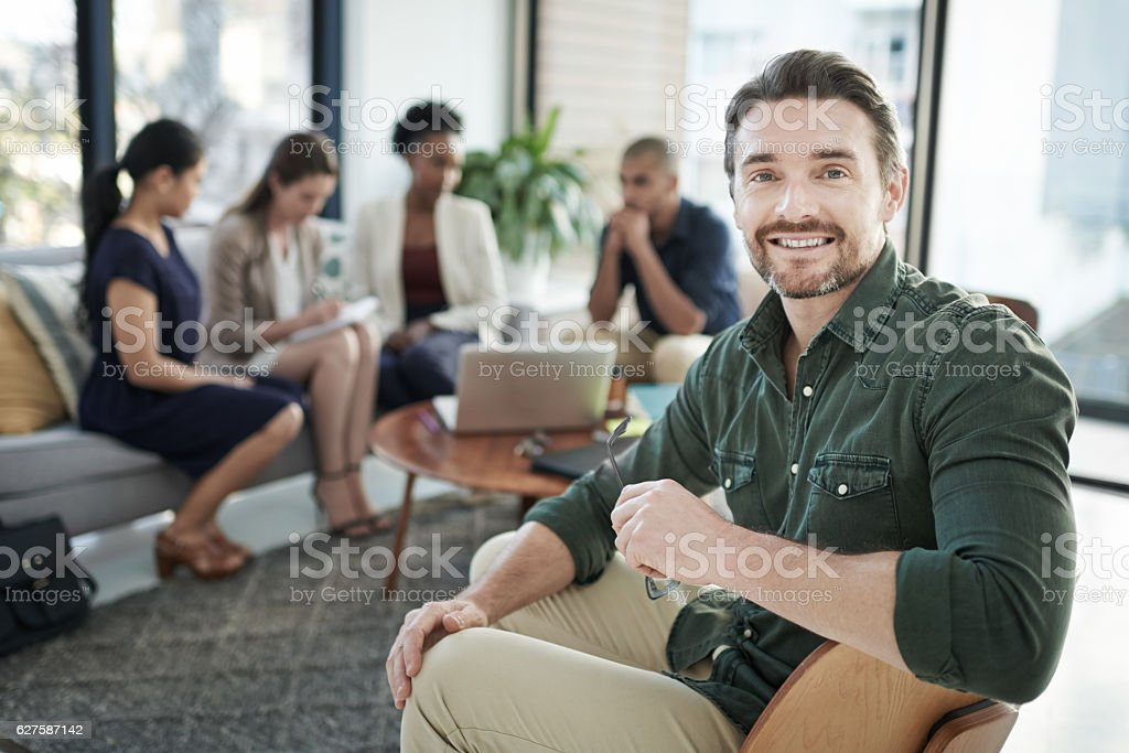 We've got an amazing team of diverse talents stock photo