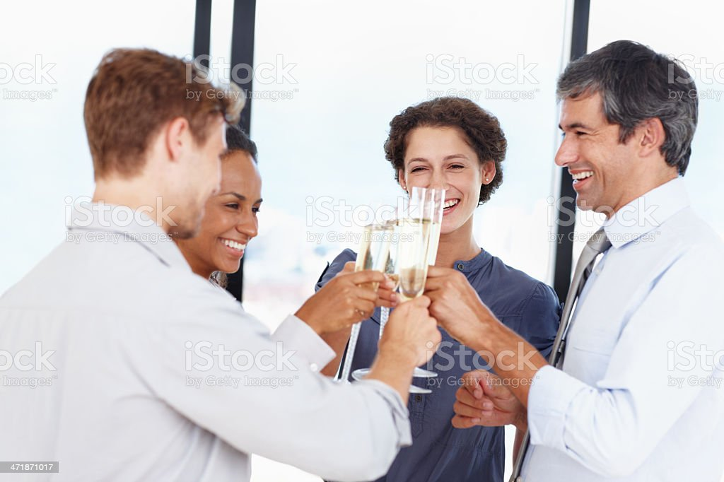 We've had a great quarter! royalty-free stock photo
