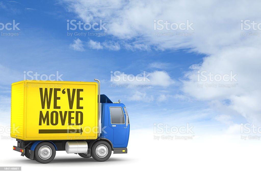 We've Moved royalty-free stock photo