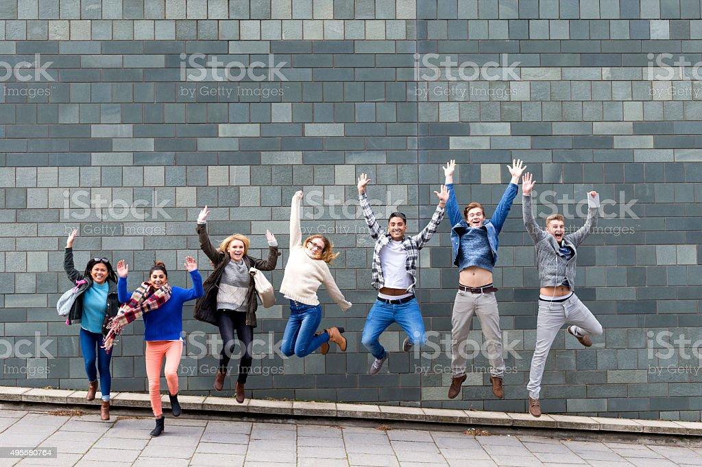We've passed! stock photo
