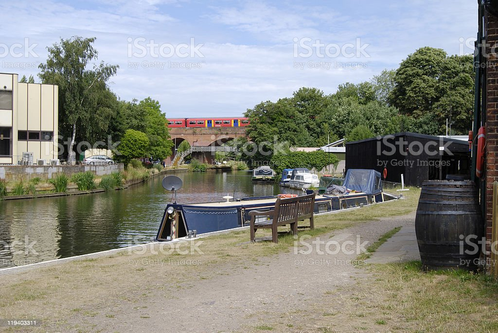 Wey Navigation. Guildford. Surrey. England stock photo