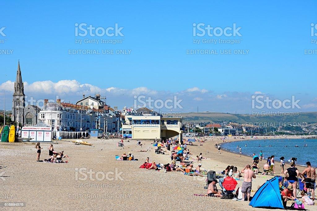 Weymouth beach. stock photo