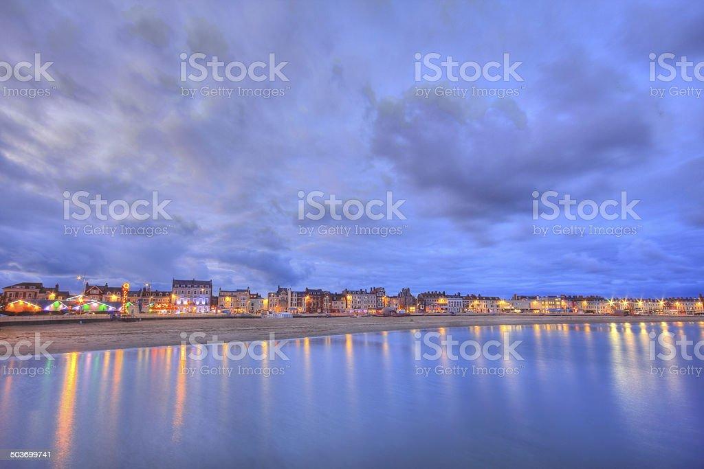 Weymouth beach sunset stock photo