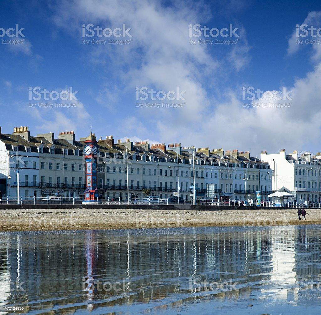 Weymouth Esplanade stock photo