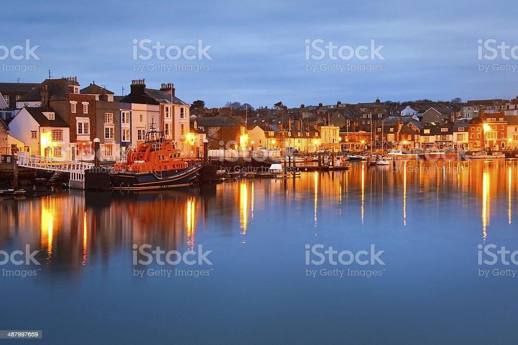 Weymouth harbor in Dorset. stock photo