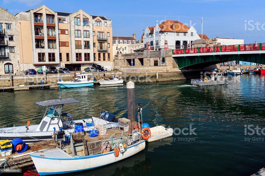 Weymouth Harbour Dorset stock photo