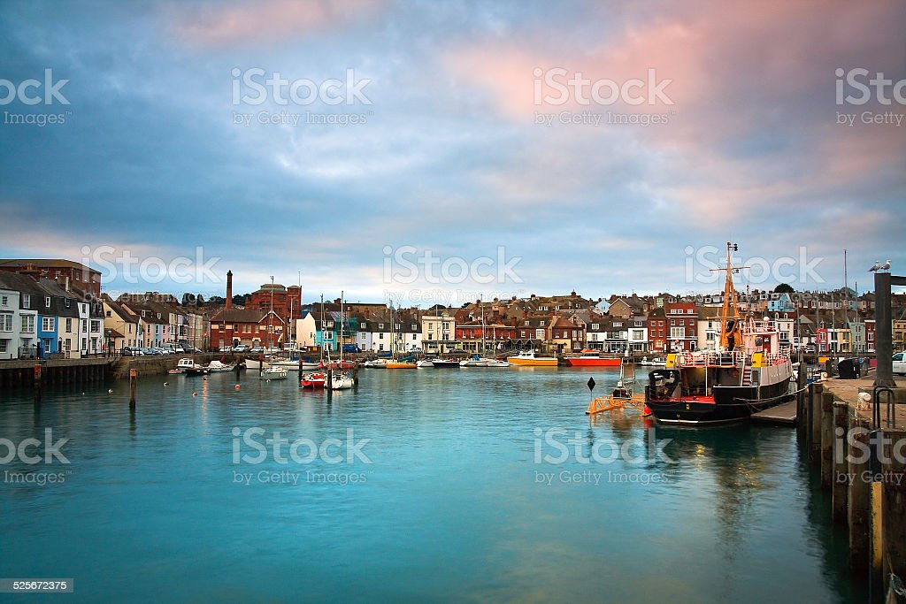 Weymouth harbour in Dorset. stock photo