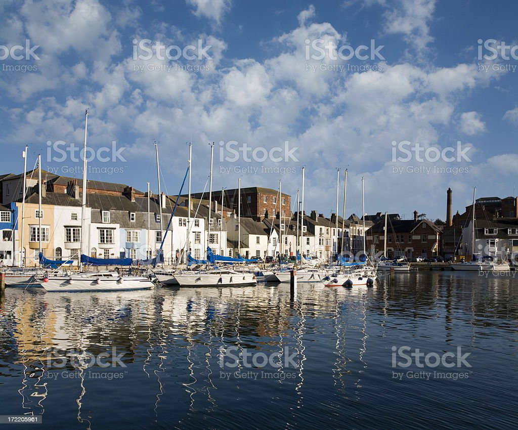 Weymouth Harbour royalty-free stock photo
