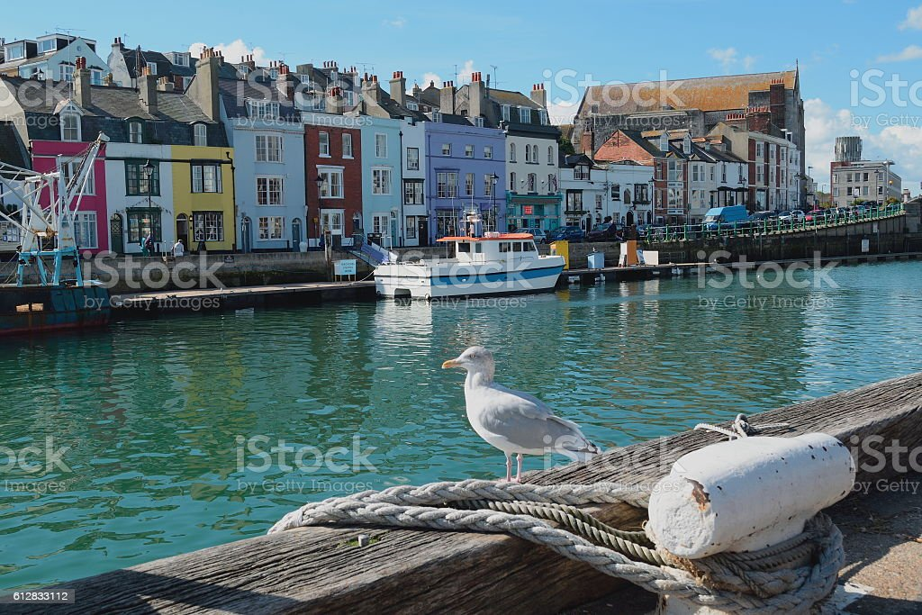 Weymouth Harbour stock photo