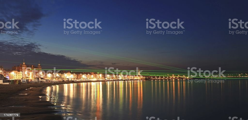 Weymouth Lazers over seafront in dorset royalty-free stock photo