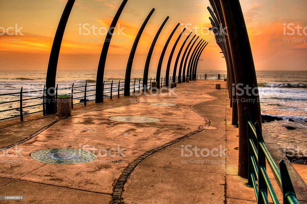 Whale Bone Pier Umhlanga Rocks stock photo