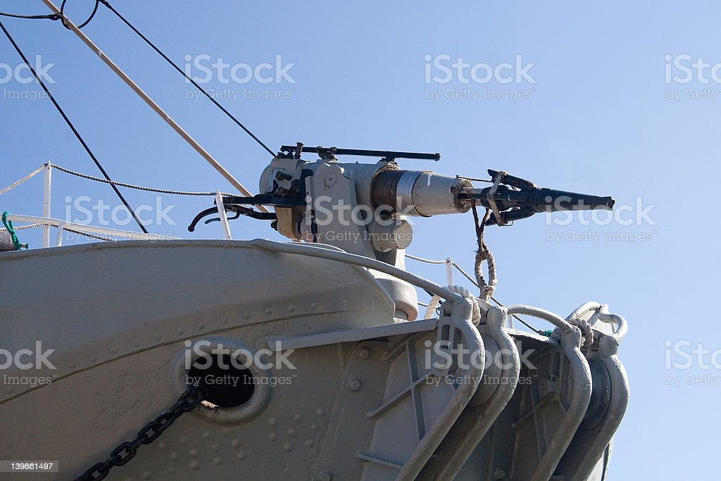 Whale gun stock photo