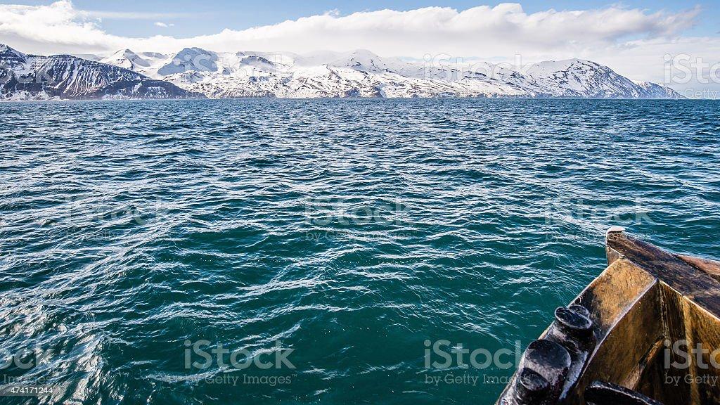 whale watching spot in husavik iceland stock photo
