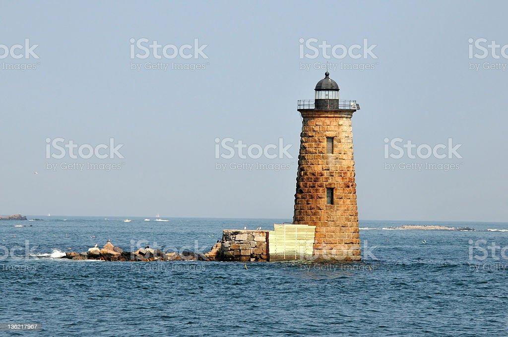 Whaleback Light stock photo
