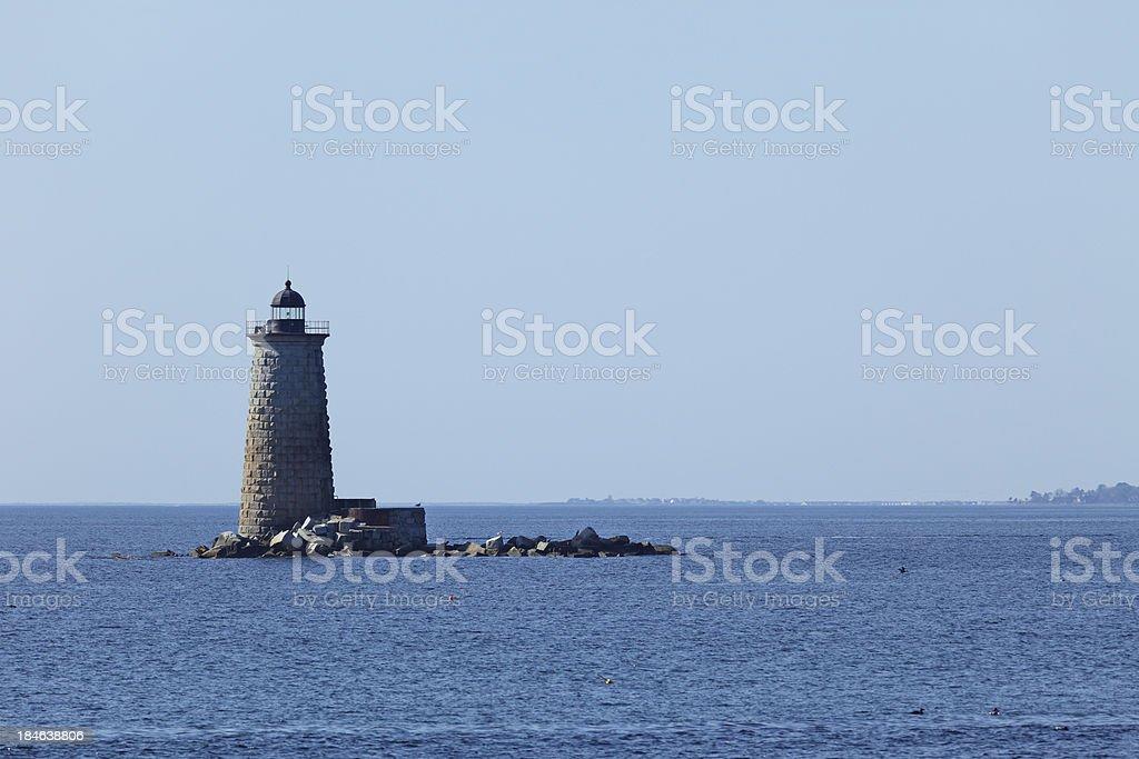 Whaleback Lighthouse stock photo