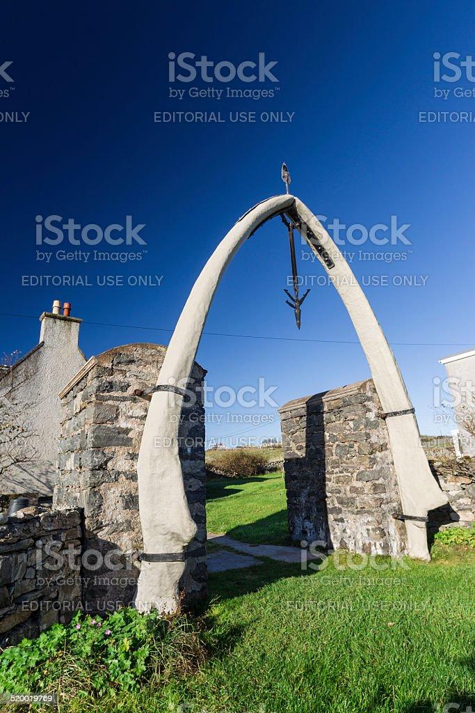 Whalebone Arch, Lewis, Scotland stock photo