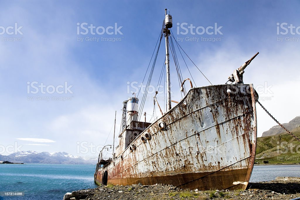Whaling Ship royalty-free stock photo