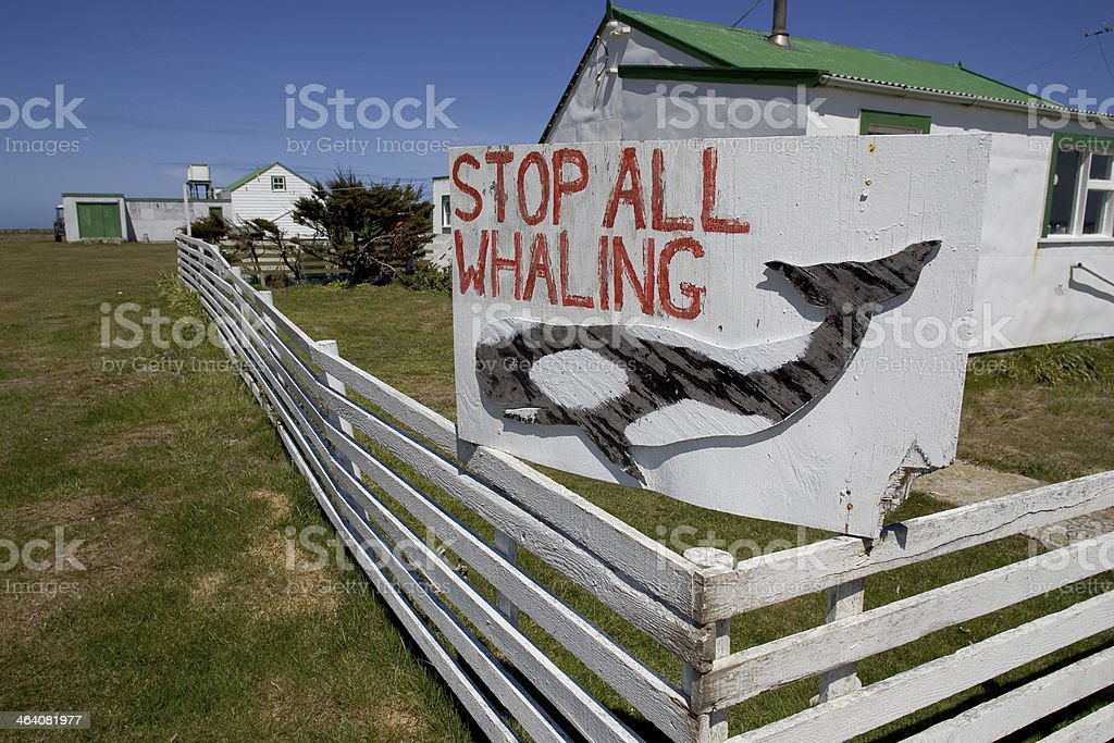 Whaling sign, stock photo