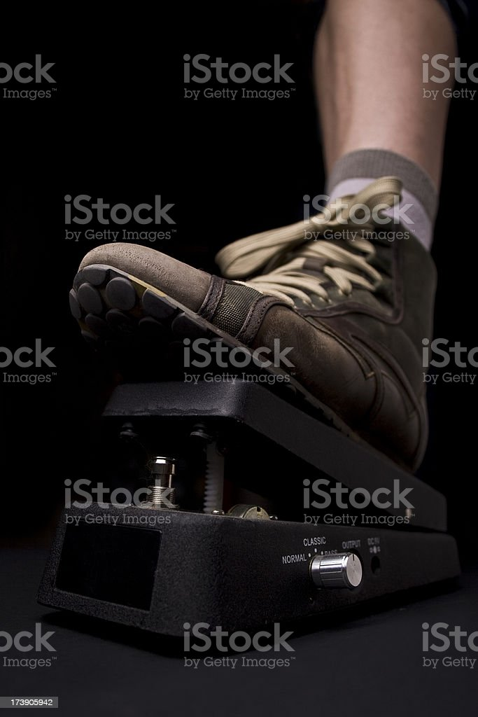 whammy electric guitar pedal effect stock photo