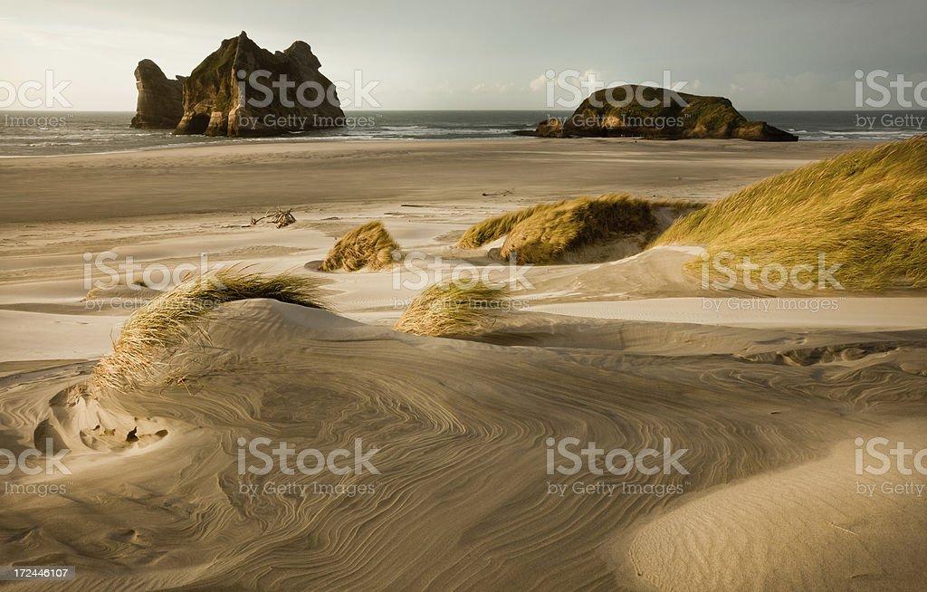 Wharariki Beach, Nelson, New Zealand royalty-free stock photo