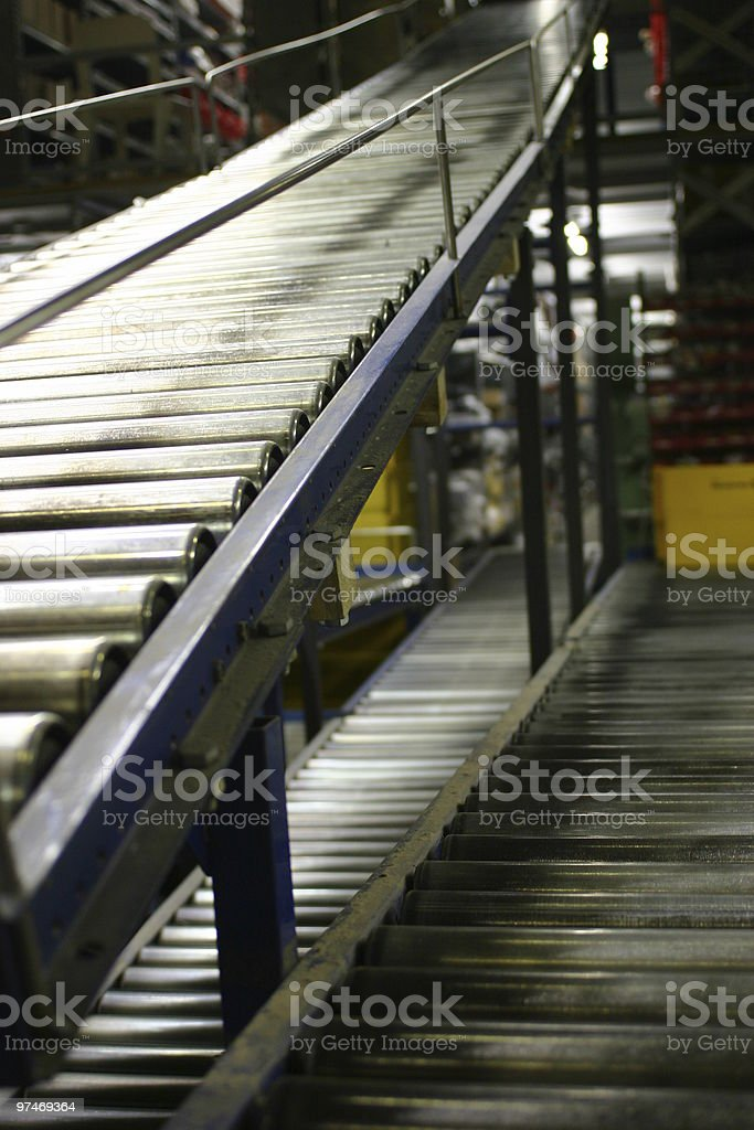 wharehouse delivery rails royalty-free stock photo