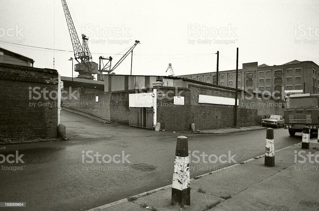 Wharf/ London, 1979 stock photo