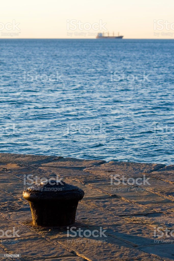 Wharf royalty-free stock photo