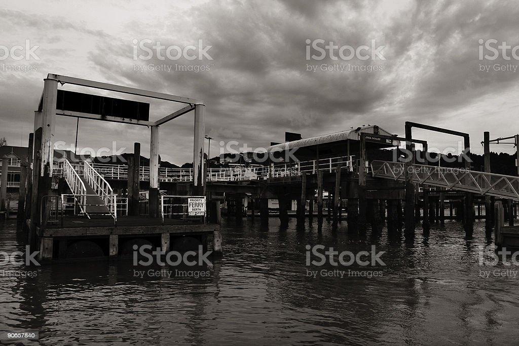 Wharf royalty-free stock photo