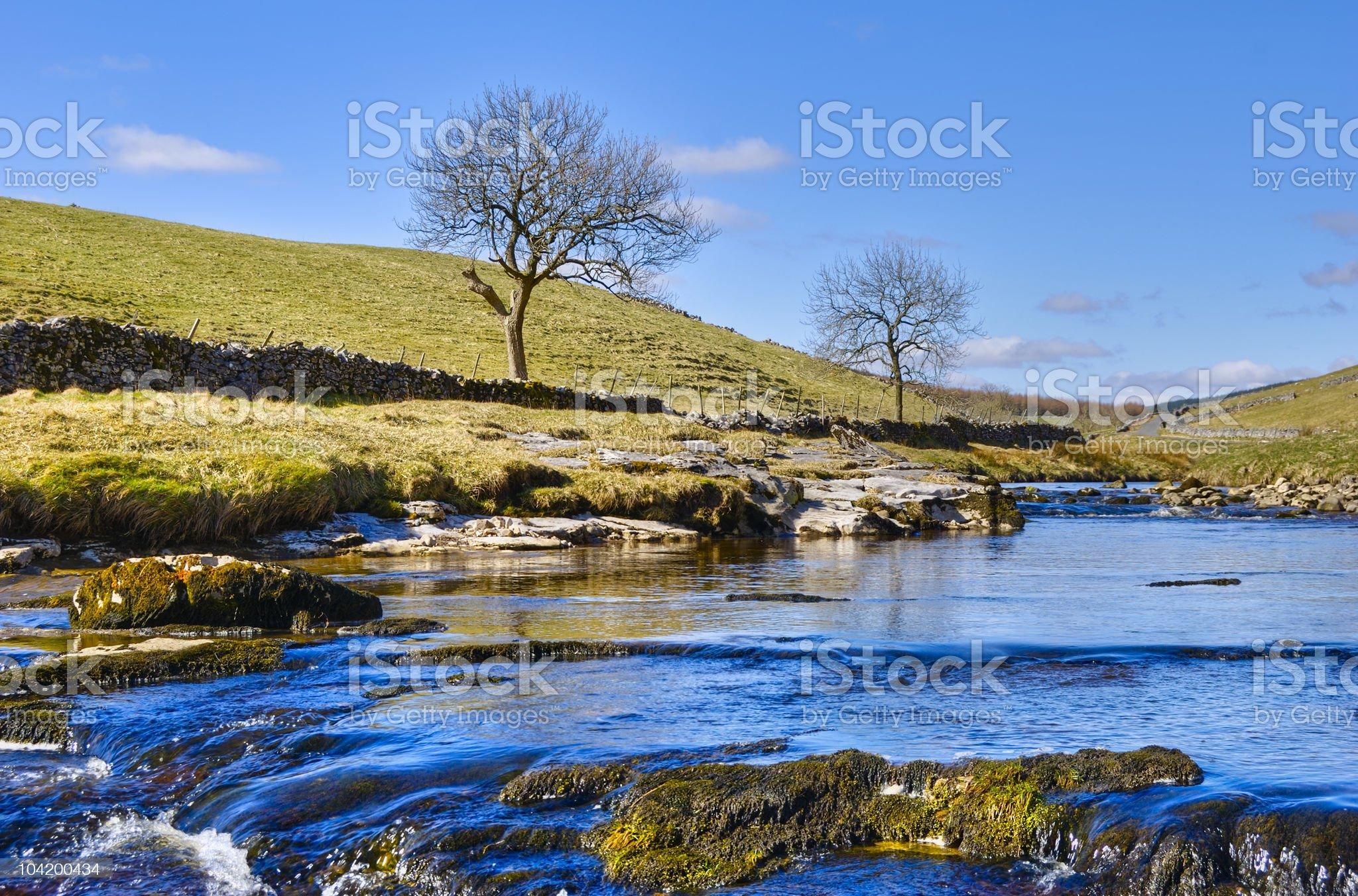 Wharfe river royalty-free stock photo