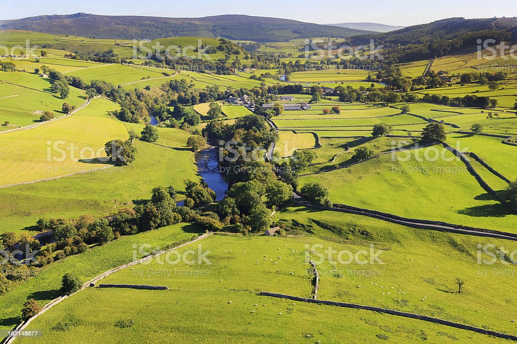 Wharfe valley in the Yorkshire Dales royalty-free stock photo