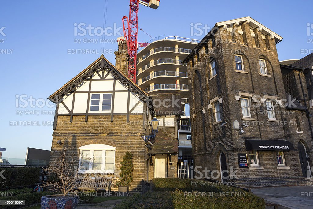 Wharfinger Cottage in London, England stock photo