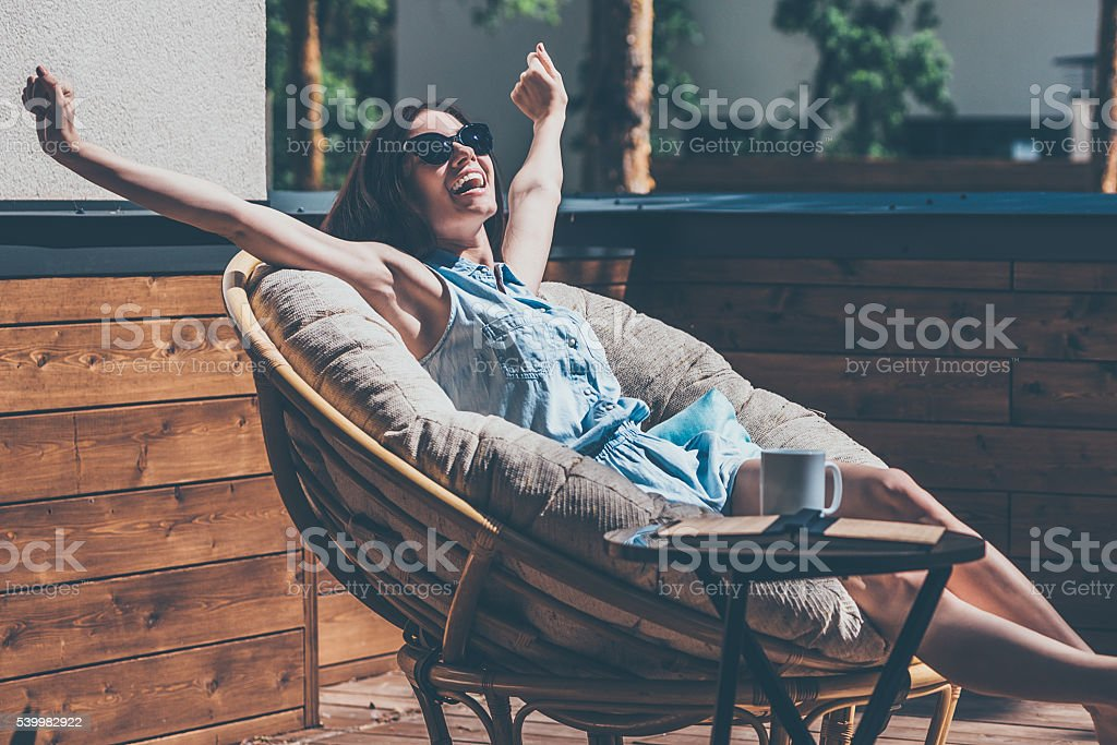What a beautiful day! stock photo