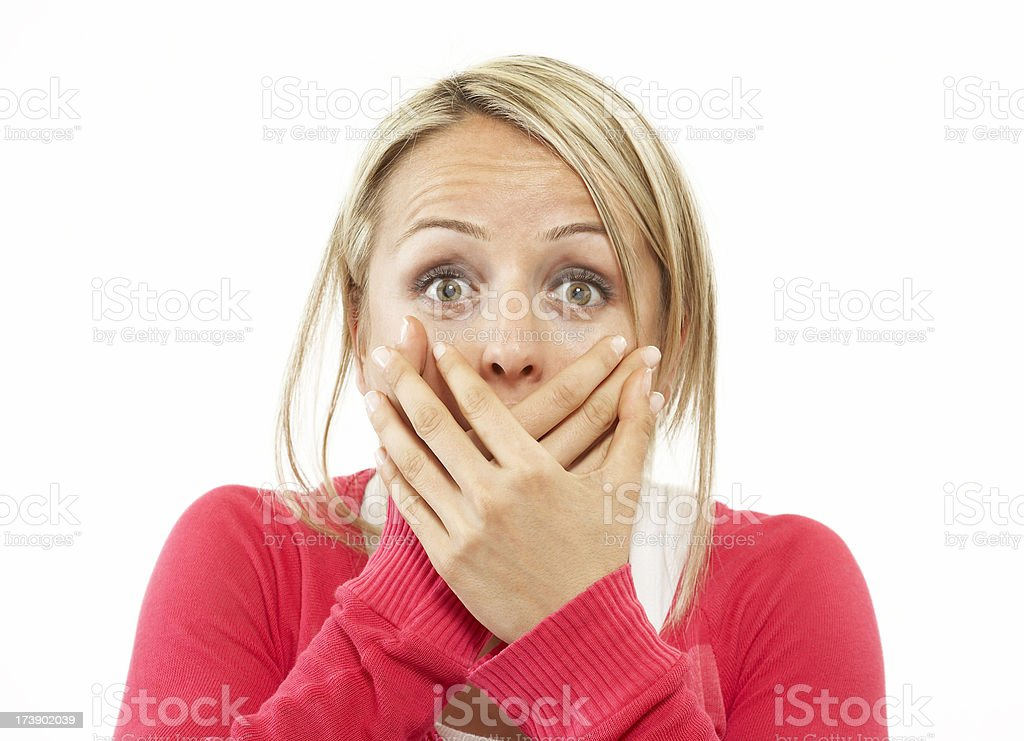 What a big suprise royalty-free stock photo