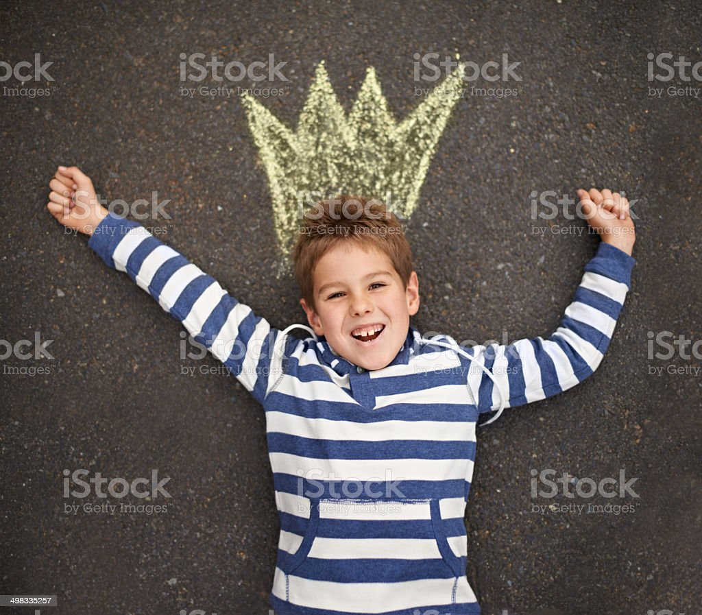 What a cute prince stock photo