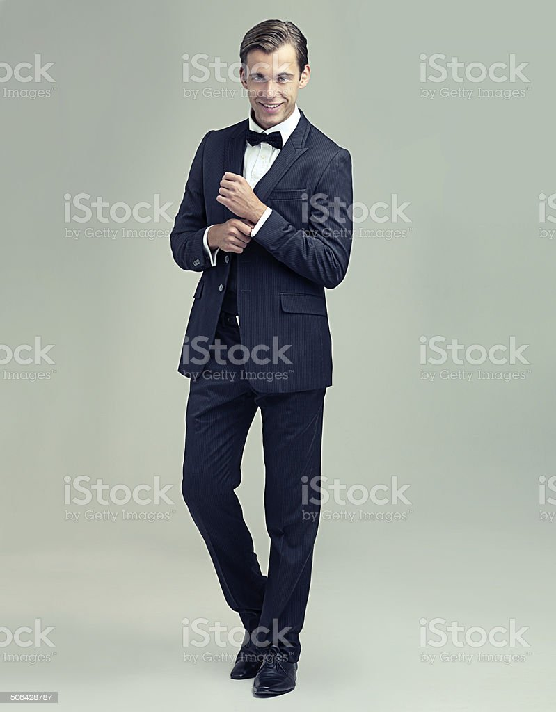 What a dapper gentleman stock photo